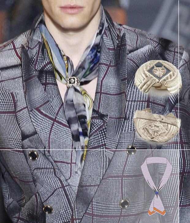 Платок с застежкой-woggle от Versace fall-winter 2013-2014